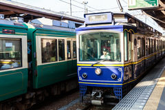 Tourist train in Kamakura Royalty Free Stock Photos