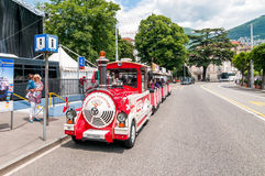 Tourist train of Lugano, Switzerland Royalty Free Stock Images