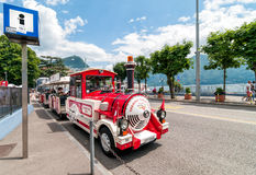 Tourist train of Lugano, Switzerland Stock Image