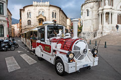 Tourist train in Monaco Royalty Free Stock Images