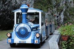 Tourist train in the Serrai di sottoguda canyon, Veneto, Italy. Royalty Free Stock Photos