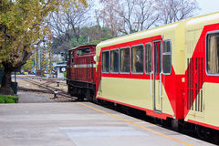 The tourist train By station Stock Photography