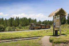 Tourist train of the volcanos in Ecuador Royalty Free Stock Image