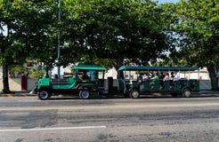 Tourist train on wheels Stock Photos