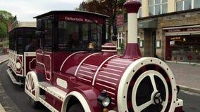 The tourist train on wheels. stock video footage