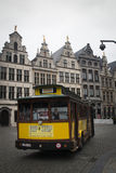 Tourist tram in Antwerp, Belgium Stock Photos