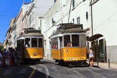 Tourist trams Lisbon Royalty Free Stock Image