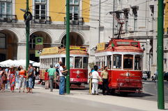 Tourist trams in Lisbon Stock Photos