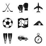 Tourist transport icons set, simple style Stock Photo
