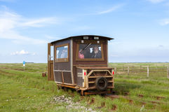 Tourist Transport to Hallig Langeness Stock Image