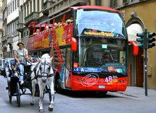 Tourist transportation bus in Italy  Royalty Free Stock Photos