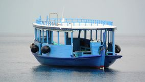 Tourist transportation motorboats in Maldives stock footage