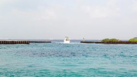 Tourist transportation motorboats in Male, Maldives stock video footage