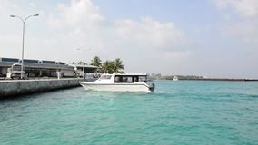 Tourist transportation motorboats in Male, Maldives stock footage