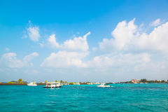Tourist transportation motorboats in Male, Maldives Stock Photo
