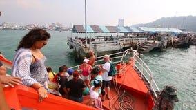 Tourist Travel By Boat To Pattaya Port Chonburi Thailand stock video