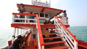 Tourist Travel By Boat To Pattaya Port Chonburi Thailand stock footage