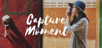 Tourist Travel Explore Life Graphic Concept Royalty Free Stock Photo
