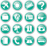 Tourist travel icon set Stock Images