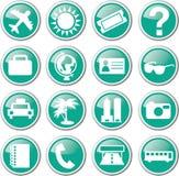 Tourist travel icon set. Illustration Stock Images