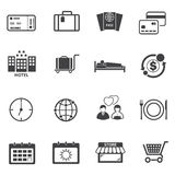 Tourist Travel icons set Stock Photos