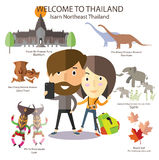 Tourist travel to Isarn Northeast Thailand Royalty Free Stock Photo