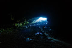 tourist traveling through Romania. cave Ponoarele Royalty Free Stock Photography