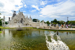 Tourist travelling at Wat Rong Khun in chiang rai Royalty Free Stock Photos