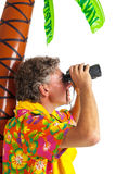 Tourist on tropical vacation Royalty Free Stock Photography