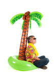 Tourist on tropical vacation Stock Image