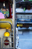 Tourist on tuk tuks in Bangkok Royalty Free Stock Photography
