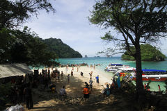 Tourist at Tup Island beach at Krabi Thailand Royalty Free Stock Photography