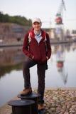 Tourist in Turku, Finnland lizenzfreie stockfotografie
