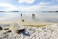 Tourist in Uganda. Tourist enjoy the waters on Ssese Islands in Lake Victoria Uganda Royalty Free Stock Photo