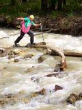 Tourist und Fluss Stockfotos
