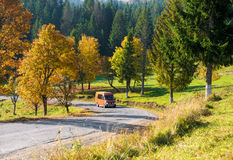 The tourist van Royalty Free Stock Photography