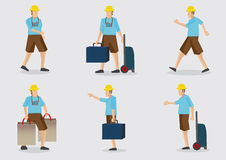 Tourist Vector Character Illustration Set Royalty Free Stock Image