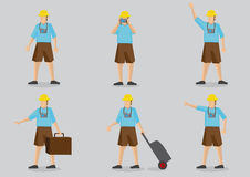 Tourist Vector Character Illustration Royalty Free Stock Photo