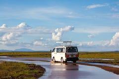 Tourist vehicle at Amboseli Stock Photos