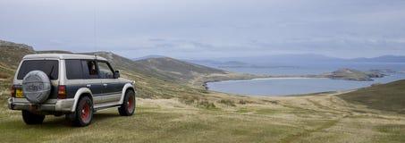 Free Tourist Vehicle - Carcass Island - Falkland Islands Stock Image - 140673501