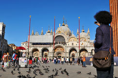 Tourist in Venice stock images