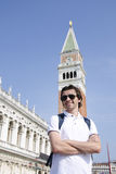 Tourist in Venice, Italy royalty free stock images