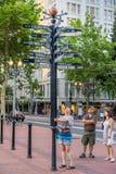 Tourist verloren in Portland Oregon Lizenzfreies Stockbild