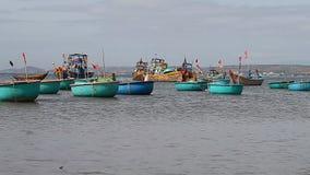 Tourist Vietnam. Fishing village in Mui Ne stock video