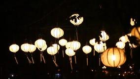 Tourist Vietnam, Hoi An and paper lanterns stock video footage