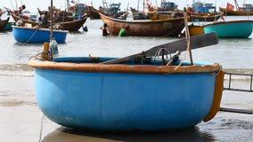 Tourist Vietnam .Traditional Fishing boats. Tourist Vietnam. Fishing village in Mui Ne Full HD stock video footage