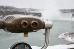 Tourist View. Niagara Falls - Tourist royalty free stock photo