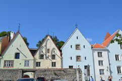 Tourist view of Old Town architecture in Tallinn, Estonia Royalty Free Stock Photography