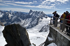 Tourist at view point Stock Photography