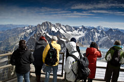 Tourist at view point Royalty Free Stock Photography